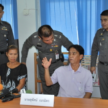 Police arrest Somboon and her husband, Sutat Neramit, an undertaker of the Hai Ya crematorium.
