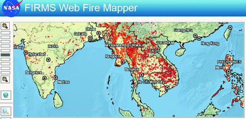 FIRMS fire mapper NASA