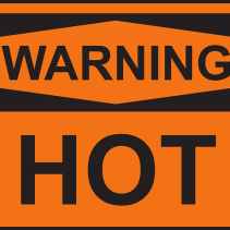 warning hot
