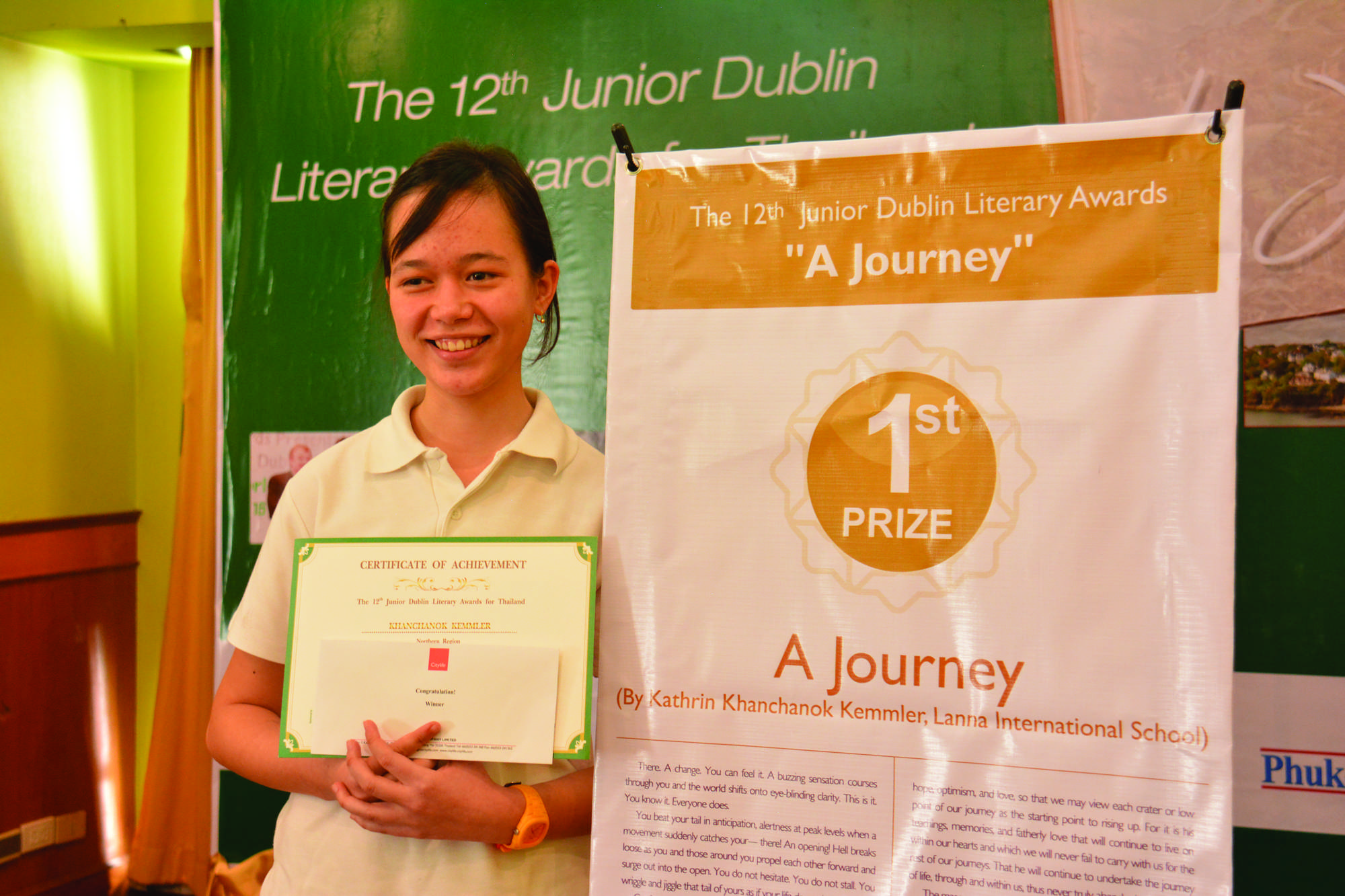 we have a winner chiang mai citylife in to attend the dublin literary festival this month the theme for this year s essay was a journey and here is her winning essay