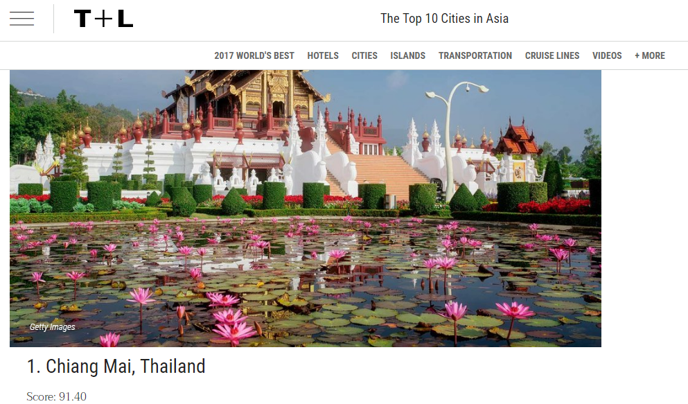 With A Score Of 91 40 Chiang Mai Has Beaten Kyoto An To First Place In This Years Top 10 Cities Asia And Our Local Hotel 137 Pillars House Won