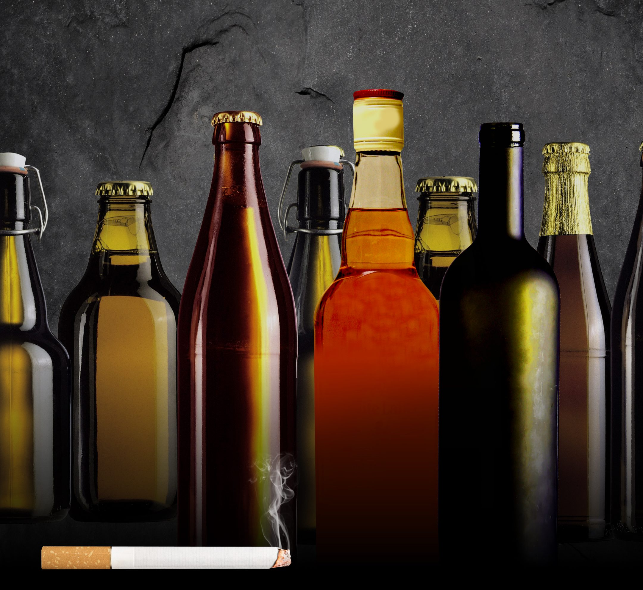 increasing taxes on alcohol and cigarettes Specifically, the alcohol content of beer and wine is taxed at a much lower rate than the alcohol content of distilled spirits because the taxes are determined on the basis of different liquid measures.